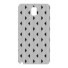 Stripes Line Triangles Vertical Black Samsung Galaxy Note 3 N9005 Hardshell Back Case by Mariart