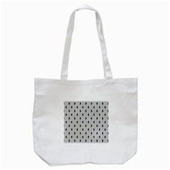 Stripes Line Triangles Vertical Black Tote Bag (white)
