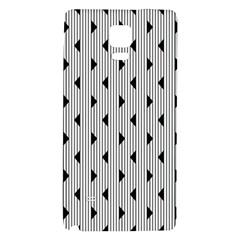 Stripes Line Triangles Vertical Black Galaxy Note 4 Back Case
