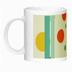 Stripes Dots Line Circle Vertical Yellow Red Blue Polka Night Luminous Mugs by Mariart