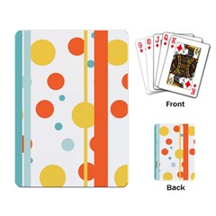 Stripes Dots Line Circle Vertical Yellow Red Blue Polka Playing Card by Mariart