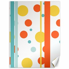 Stripes Dots Line Circle Vertical Yellow Red Blue Polka Canvas 36  X 48