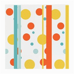 Stripes Dots Line Circle Vertical Yellow Red Blue Polka Medium Glasses Cloth