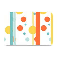 Stripes Dots Line Circle Vertical Yellow Red Blue Polka Plate Mats by Mariart