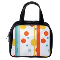 Stripes Dots Line Circle Vertical Yellow Red Blue Polka Classic Handbags (one Side) by Mariart