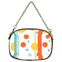 Stripes Dots Line Circle Vertical Yellow Red Blue Polka Chain Purses (one Side)