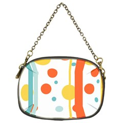 Stripes Dots Line Circle Vertical Yellow Red Blue Polka Chain Purses (two Sides)