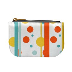 Stripes Dots Line Circle Vertical Yellow Red Blue Polka Mini Coin Purses by Mariart