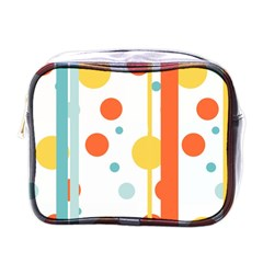 Stripes Dots Line Circle Vertical Yellow Red Blue Polka Mini Toiletries Bags by Mariart
