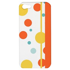 Stripes Dots Line Circle Vertical Yellow Red Blue Polka Apple Iphone 5 Hardshell Case by Mariart