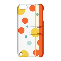 Stripes Dots Line Circle Vertical Yellow Red Blue Polka Apple Ipod Touch 5 Hardshell Case With Stand by Mariart