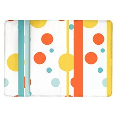 Stripes Dots Line Circle Vertical Yellow Red Blue Polka Samsung Galaxy Tab 10 1  P7500 Flip Case by Mariart