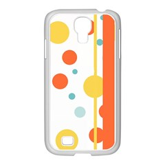 Stripes Dots Line Circle Vertical Yellow Red Blue Polka Samsung Galaxy S4 I9500/ I9505 Case (white) by Mariart