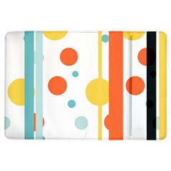 Stripes Dots Line Circle Vertical Yellow Red Blue Polka Ipad Air Flip by Mariart