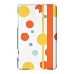 Stripes Dots Line Circle Vertical Yellow Red Blue Polka Samsung Galaxy Tab S (8 4 ) Hardshell Case  by Mariart