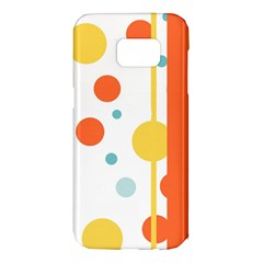 Stripes Dots Line Circle Vertical Yellow Red Blue Polka Samsung Galaxy S7 Edge Hardshell Case