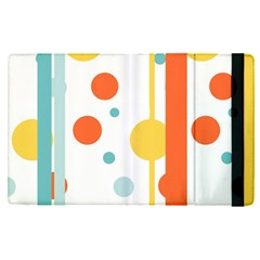 Stripes Dots Line Circle Vertical Yellow Red Blue Polka Apple Ipad Pro 12 9   Flip Case