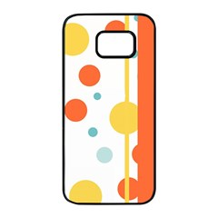 Stripes Dots Line Circle Vertical Yellow Red Blue Polka Samsung Galaxy S7 Edge Black Seamless Case