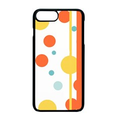 Stripes Dots Line Circle Vertical Yellow Red Blue Polka Apple Iphone 7 Plus Seamless Case (black)