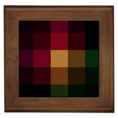 Stripes Plaid Color Framed Tiles by Mariart