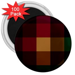 Stripes Plaid Color 3  Magnets (100 Pack) by Mariart