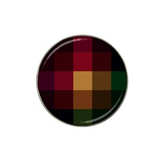 Stripes Plaid Color Hat Clip Ball Marker by Mariart