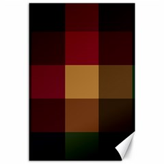 Stripes Plaid Color Canvas 24  X 36  by Mariart
