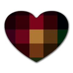 Stripes Plaid Color Heart Mousepads by Mariart