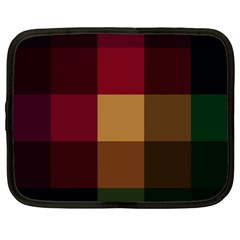 Stripes Plaid Color Netbook Case (xxl)  by Mariart