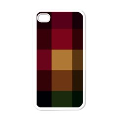 Stripes Plaid Color Apple Iphone 4 Case (white) by Mariart