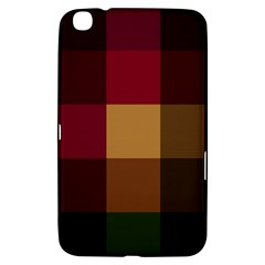 Stripes Plaid Color Samsung Galaxy Tab 3 (8 ) T3100 Hardshell Case  by Mariart