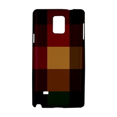 Stripes Plaid Color Samsung Galaxy Note 4 Hardshell Case by Mariart