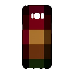 Stripes Plaid Color Samsung Galaxy S8 Hardshell Case  by Mariart