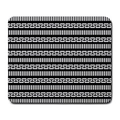 Tribal Stripes Black White Large Mousepads by Mariart