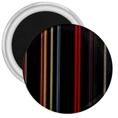 Stripes Line Black Red 3  Magnets by Mariart