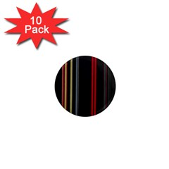 Stripes Line Black Red 1  Mini Magnet (10 Pack)  by Mariart
