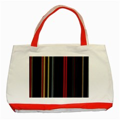 Stripes Line Black Red Classic Tote Bag (red) by Mariart