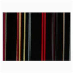Stripes Line Black Red Large Glasses Cloth