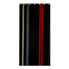 Stripes Line Black Red Shower Curtain 36  X 72  (stall)  by Mariart