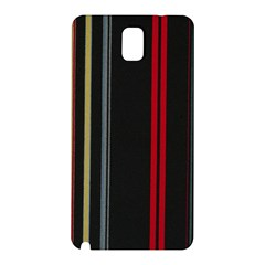 Stripes Line Black Red Samsung Galaxy Note 3 N9005 Hardshell Back Case by Mariart