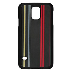 Stripes Line Black Red Samsung Galaxy S5 Case (black) by Mariart