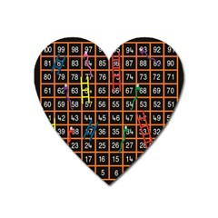 Snakes Ladders Game Plaid Number Heart Magnet by Mariart