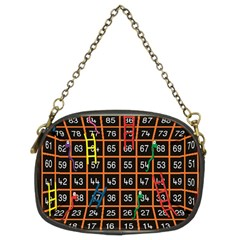 Snakes Ladders Game Plaid Number Chain Purses (two Sides)  by Mariart