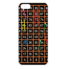 Snakes Ladders Game Plaid Number Apple Iphone 5 Seamless Case (white) by Mariart