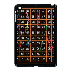 Snakes Ladders Game Plaid Number Apple Ipad Mini Case (black) by Mariart