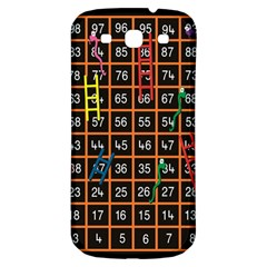 Snakes Ladders Game Plaid Number Samsung Galaxy S3 S Iii Classic Hardshell Back Case by Mariart