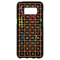 Snakes Ladders Game Plaid Number Samsung Galaxy S8 Black Seamless Case by Mariart
