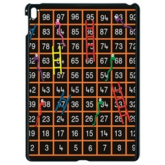 Snakes Ladders Game Plaid Number Apple Ipad Pro 9 7   Black Seamless Case by Mariart