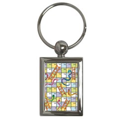 Snakes Ladders Game Board Key Chains (rectangle)  by Mariart