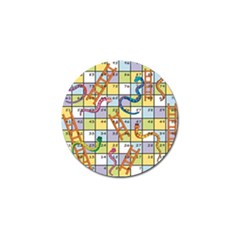 Snakes Ladders Game Board Golf Ball Marker by Mariart